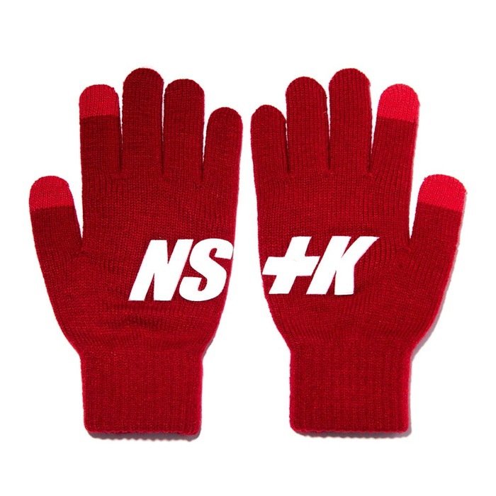 네스티킥, [NK] NSTK BASIC LOGO GLOVES RED (NK18A102H) - 풋셀스토어