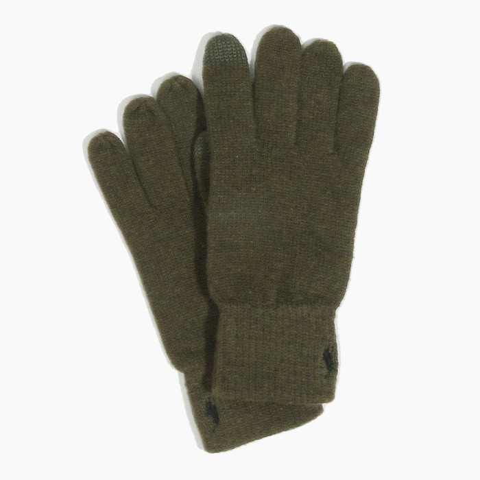 [폴로] POLO Cotton Merino Touch Glove Olive, 장갑 - 풋셀스토어