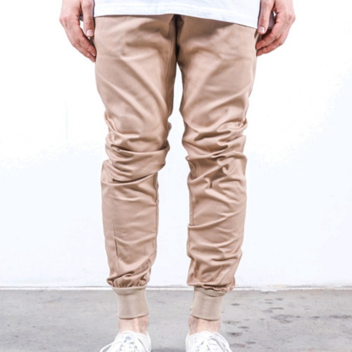 [러스틱다임]RUSTIC DIME JOGGER FIT STRETCH TWILL (ALMOND) - 풋셀스토어