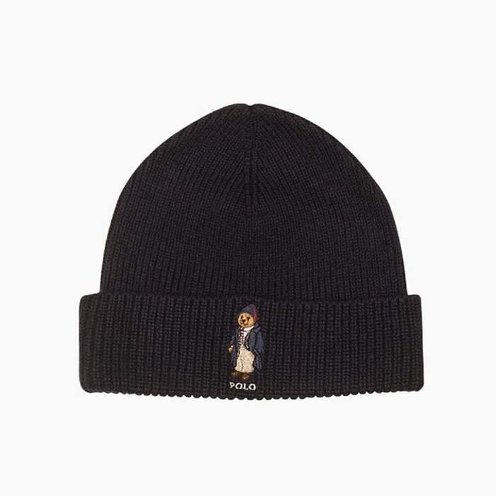 [폴로] POLO Polo Bear Beanie Toggle Bear(Black), 비니 - 풋셀스토어