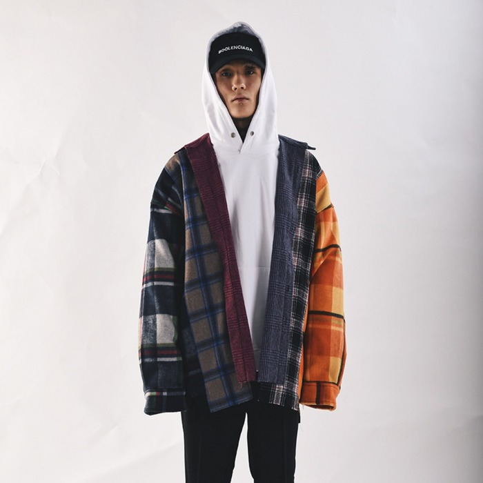 [COUPDEGRACE] 6 CUTS REBUILD FLANNEL SHIRTS (MULTI), 쿠드그라스 - 풋셀스토어