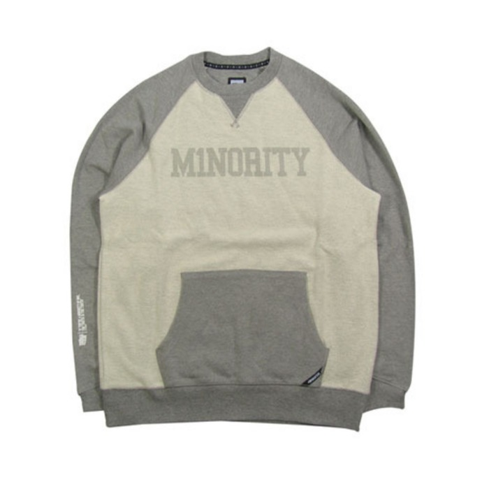 [유에스에이머천다이징]U.S.A MERCHANDISING IN4MATION KINGSLEY FRENCH TERRY CREWNECK SWEATSHIRT - 풋셀스토어