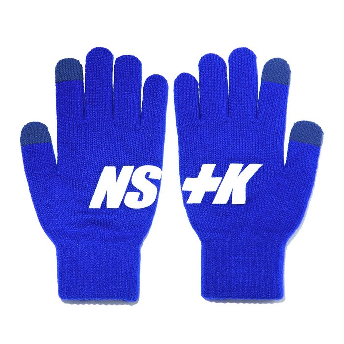 네스티킥, [NK] NSTK BASIC LOGO GLOVES BLUE (NK18A102H) - 풋셀스토어