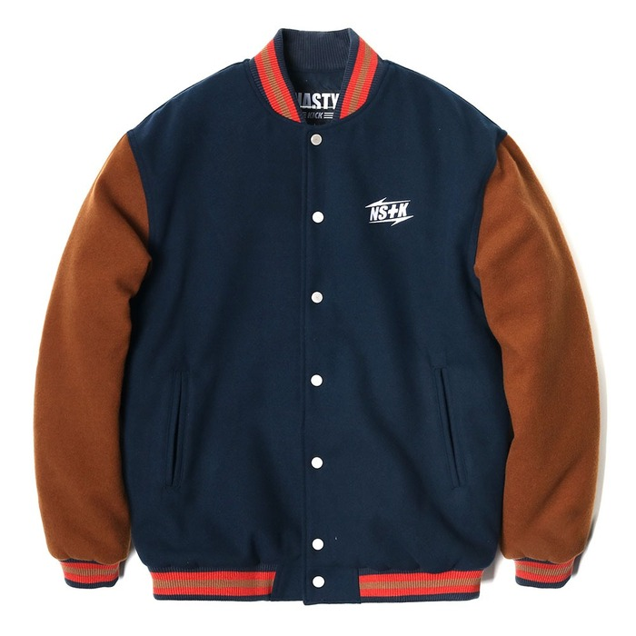 네스티킥, [NK] NSTK NARROW VARSITY JACKET NAVY (NK18A118H) - 풋셀스토어