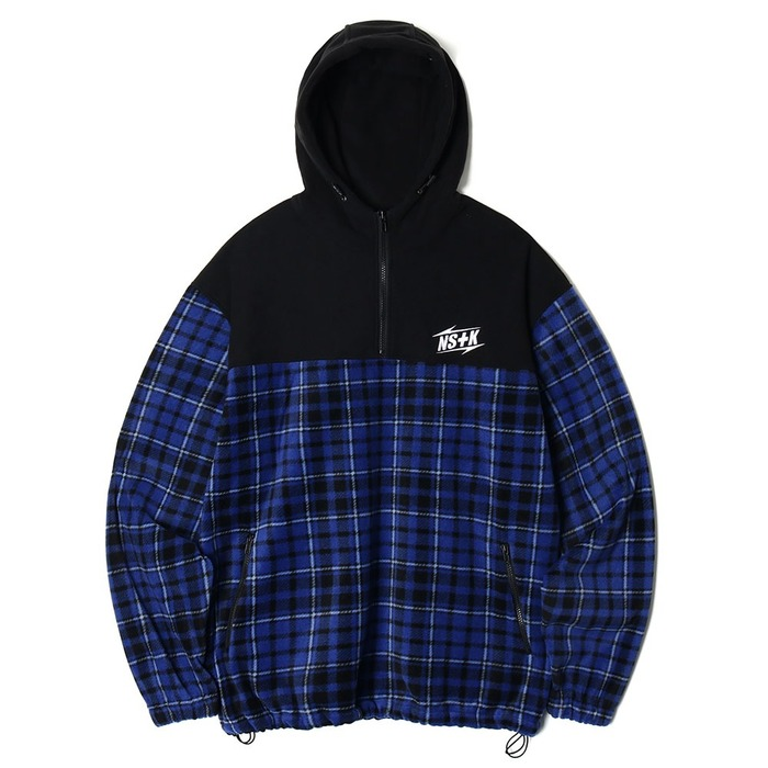 네스티킥, [NK] ECHO FLEECE ANORAK BLUE (NK18A011H) - 풋셀스토어