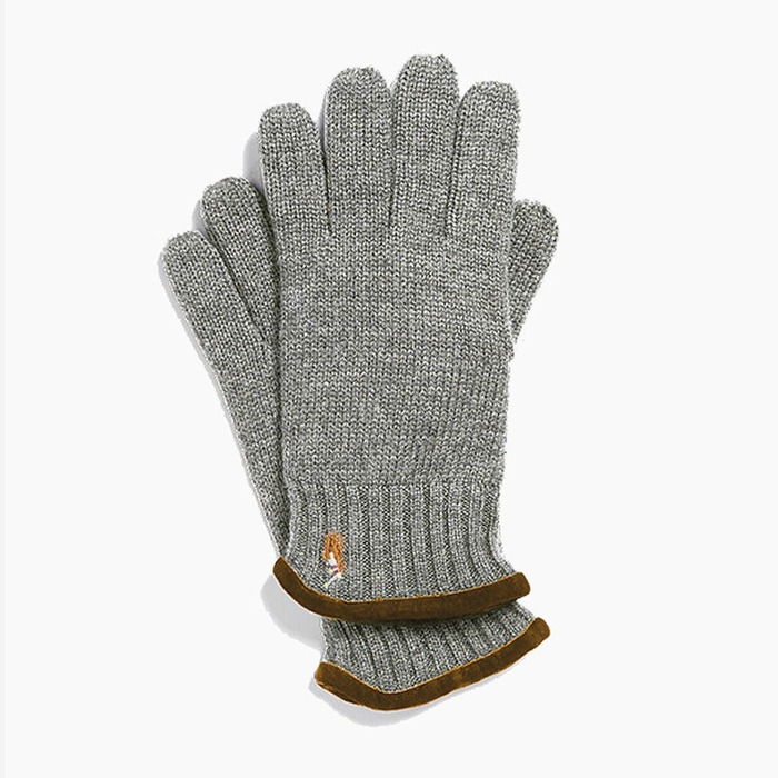 [폴로] POLO Classic Lux Merino Glove Grey Heather, 장갑 - 풋셀스토어