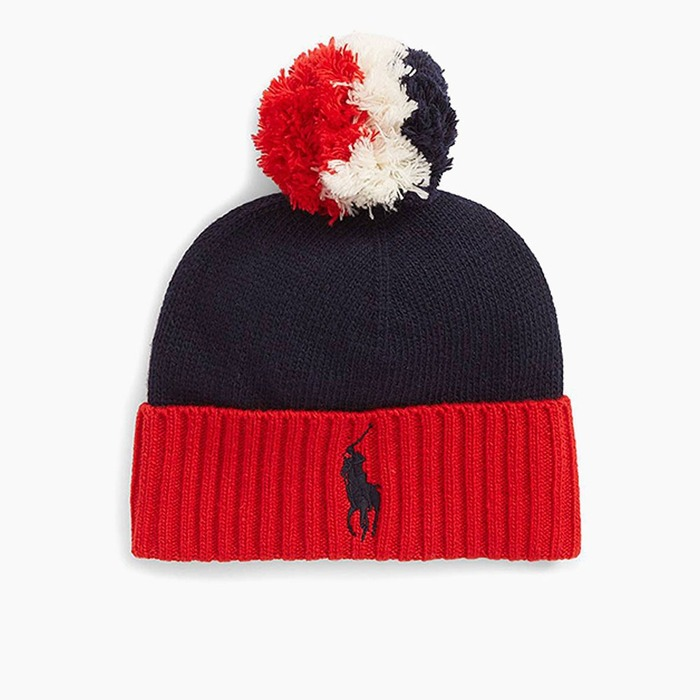 [폴로] POLO Big Pony USA Cuff Hat Navy, 비니 - 풋셀스토어