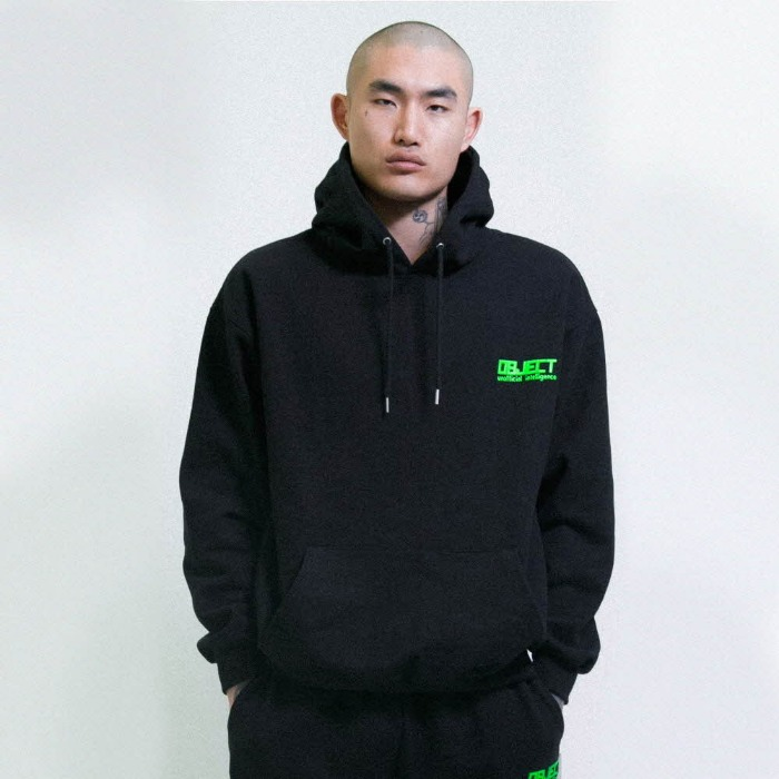 오브젝트 UNOFFICIAL INTELLIGENCE HOODIE (BLACK) - 풋셀스토어