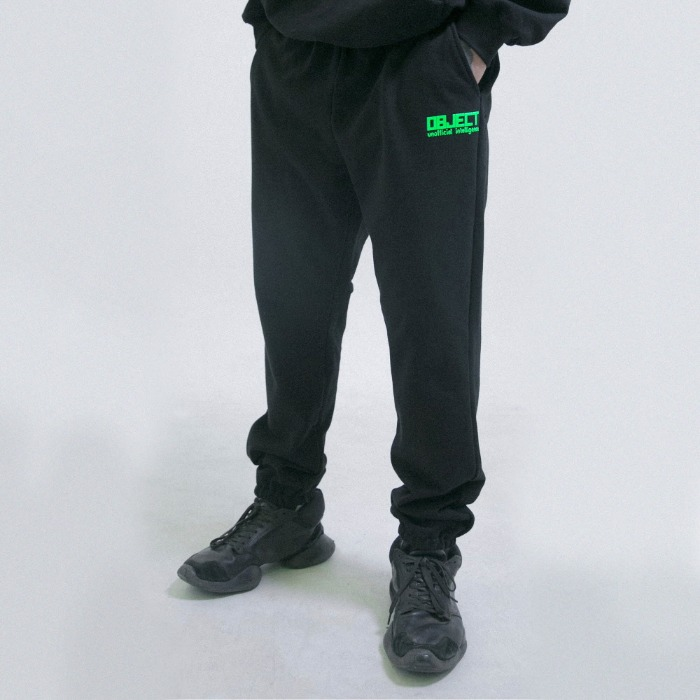 오브젝트 UNOFFICIAL INTELLIGENCE SWEATPANTS (BLACK) - 풋셀스토어