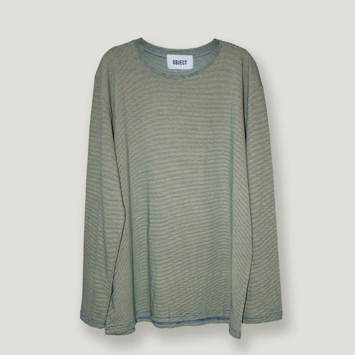 오브젝트 OVERSIZED STRIPE LONG SLEEVE (YELLOW/GREEN) - 풋셀스토어