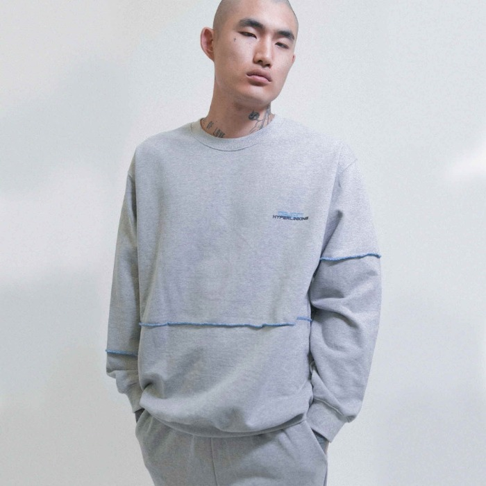 오브젝트 HYPERLINKING SWEATSHIRT (GRAY) - 풋셀스토어
