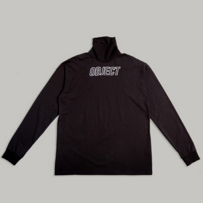 오브젝트 OBJECT LOGO TURTLENECK (BLACK) - 풋셀스토어