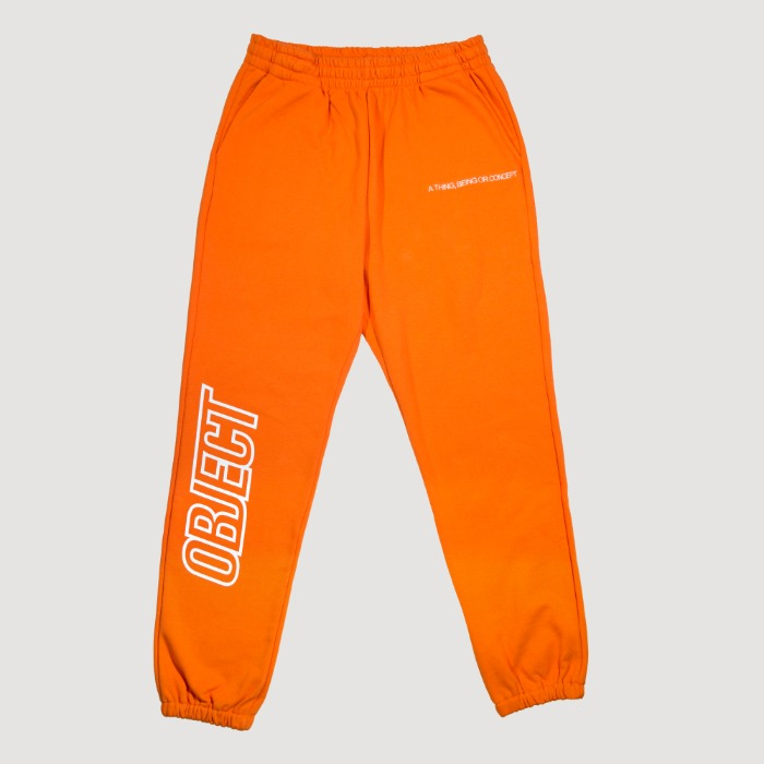 오브젝트 OBJECT LOGO SWEATPANTS (ORANGE) - 풋셀스토어