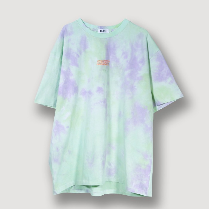 오브젝트 TIE DYE OVERSIZED T-SHIRT (MINT) - 풋셀스토어