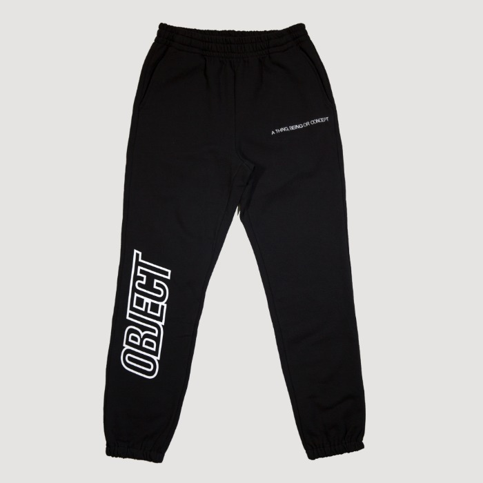 오브젝트 OBJECT LOGO SWEATPANTS (BLACK) - 풋셀스토어
