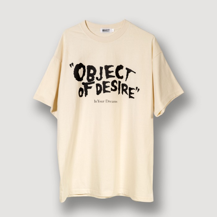 오브젝트 OBJECT OF DESIRE T-SHIRT (BEIGE) - 풋셀스토어