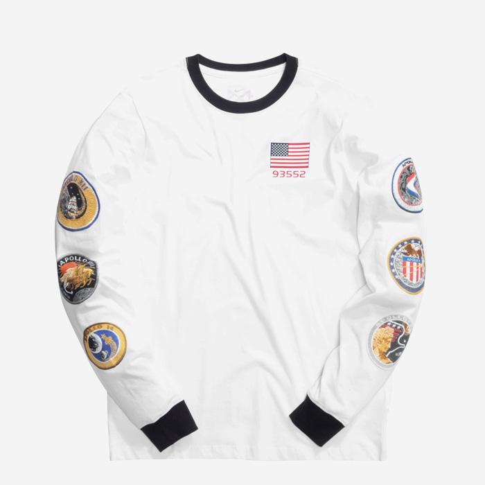 나이키 폴조지 x NASA 긴팔티 BQ7534-100 남성티셔츠 - 풋셀스토어