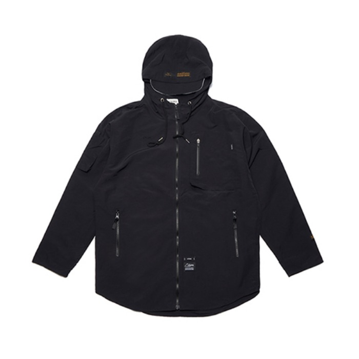 STIGMA STGM TECH WINDBREAKER JACKET BLACK - 풋셀스토어