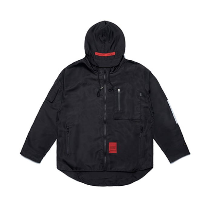 STIGMA X CALIPH ASH TECH WINDBREAKER JACKET BLACK - 풋셀스토어