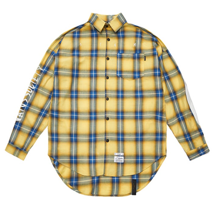 STIGMA HALLUCINATION OVERSIZED CHECK SHIRTS YELLOW - 풋셀스토어