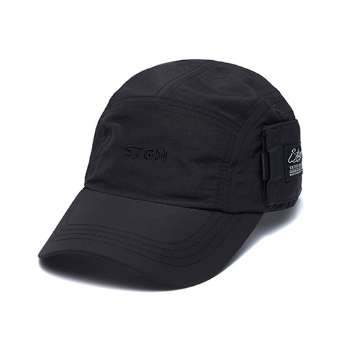 STIGMA STGM POCKET CAMP CAP BLACK - 풋셀스토어