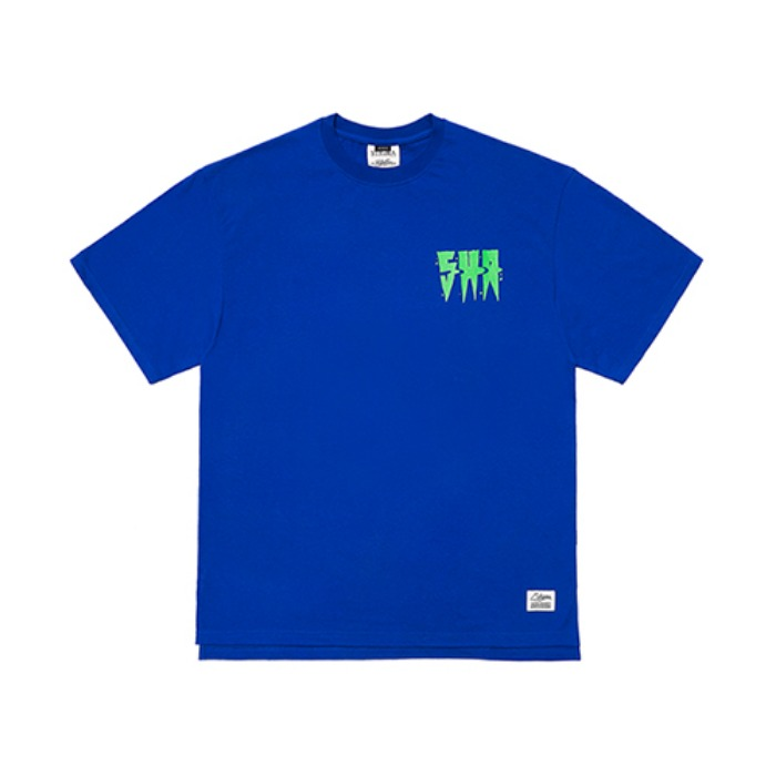 STIGMA SPREAD OVERSIZED T-SHIRTS BLUE - 풋셀스토어