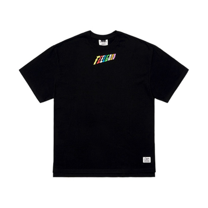 STIGMA RAINBOW OVERSIZED T-SHIRTS BLACK - 풋셀스토어