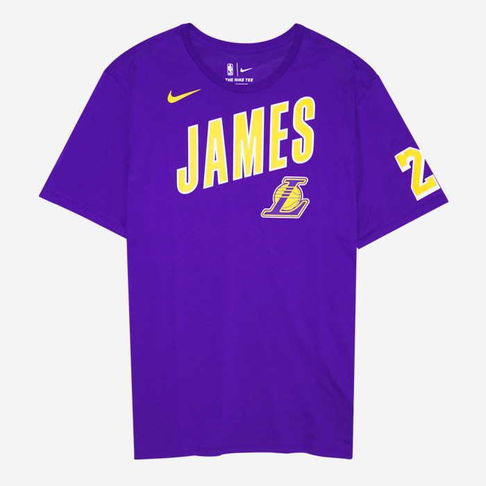 나이키 NBA LA 레이커스 르브론 제임스 ES 반팔티 AH0049-551 티셔츠 - 풋셀스토어