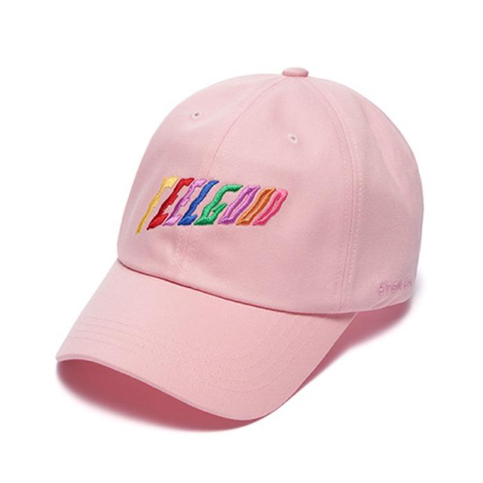 STIGMA RAINBOW BASEBALL CAP PINK - 풋셀스토어