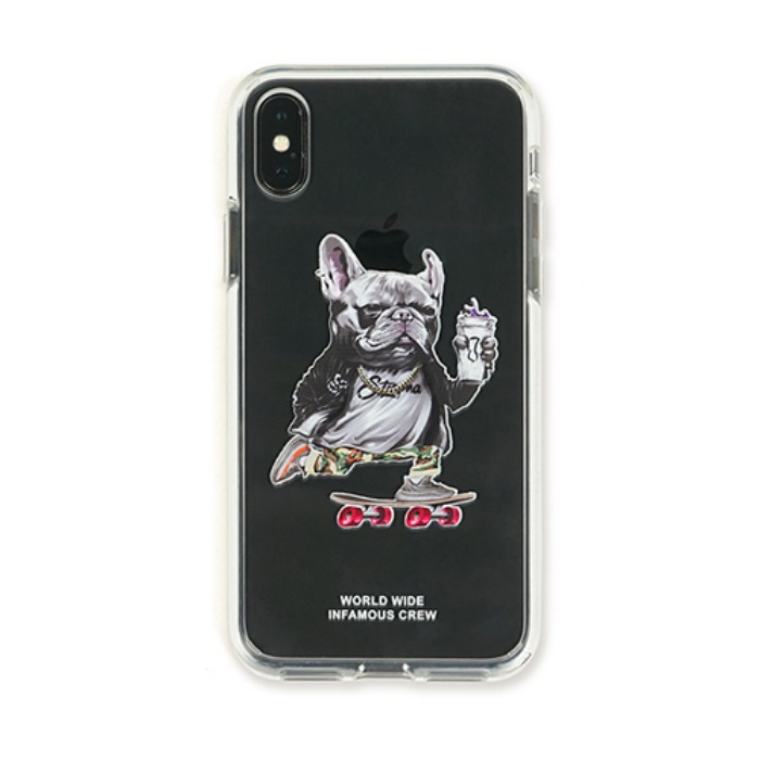 STIGMA PHONE CASE BULL DOG iPHONE Xs / Xs MAX / Xr - 풋셀스토어
