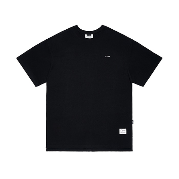 STIGMA STGM HOTFIX OVERSIZED T-SHIRTS BLACK - 풋셀스토어