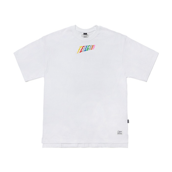 STIGMA RAINBOW OVERSIZED T-SHIRTS WHITE - 풋셀스토어