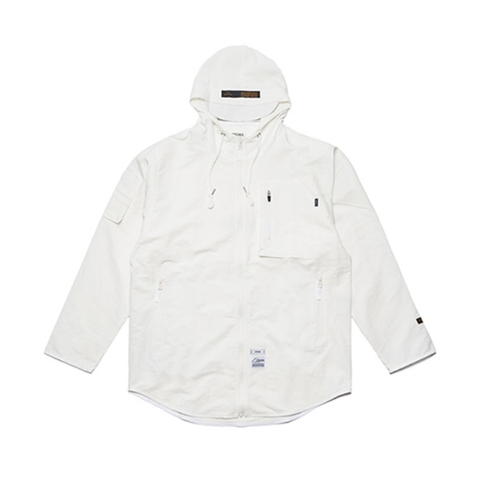 STIGMA STGM TECH WINDBREAKER JACKET WHITE - 풋셀스토어