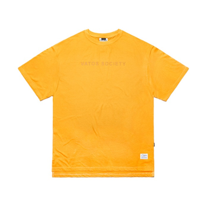 STIGMA V COLORS OVERSIZED T-SHIRTS YELLOW - 풋셀스토어
