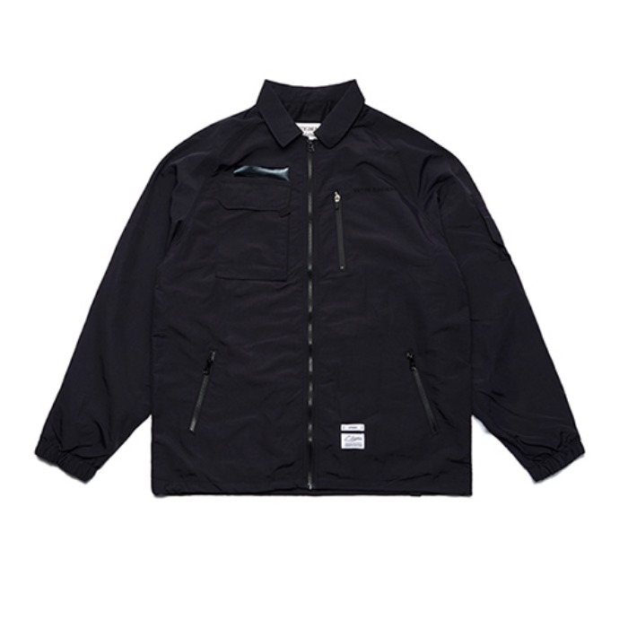 STIGMA STGM TECH OVERSIZED COACH JACKET BLACK - 풋셀스토어