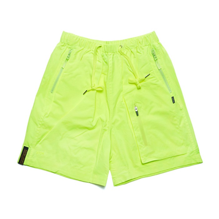 STIGMA STGM TECH SHORT PANTS NEON GREEN - 풋셀스토어