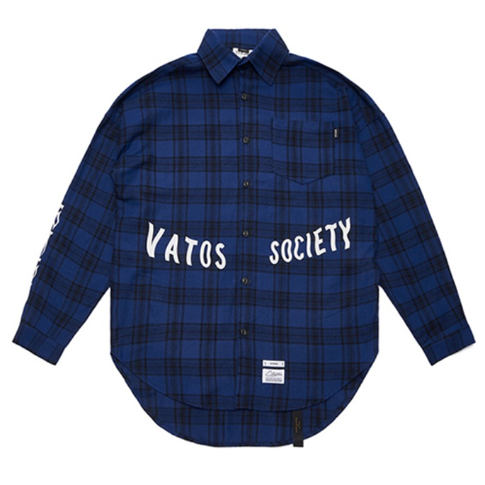 STIGMA MUSK OVERSIZED CHECK SHIRTS BLUE - 풋셀스토어