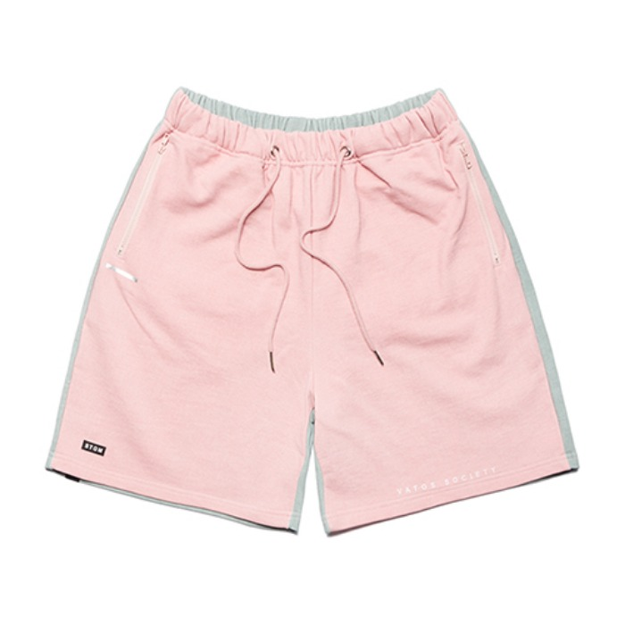 STIGMA SIDE HALF SHORT PANTS PINK - 풋셀스토어