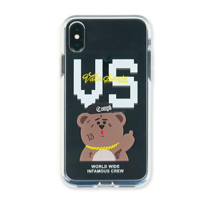 STIGMA PHONE CASE VS BEAR CLEAR iPHONE Xs / Xs MAX / Xr - 풋셀스토어