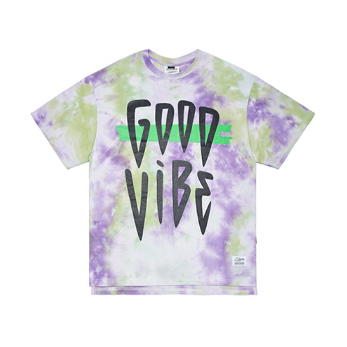 STIGMA TIE DYE OVERSIZED T-SHIRTS PURPLE - 풋셀스토어