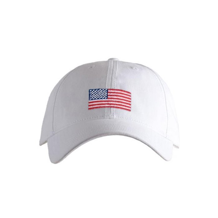[하딩레인] Adult`s Hats American Flag on White - 풋셀스토어