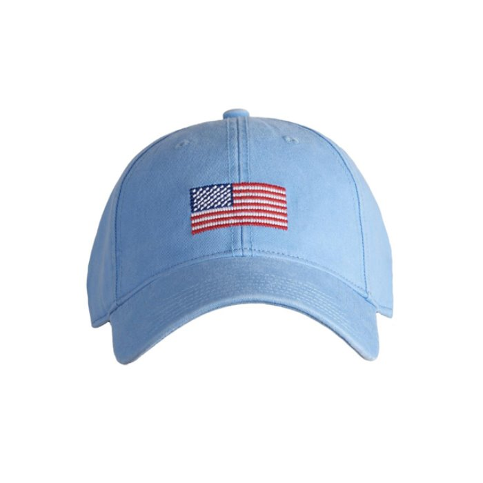 [하딩레인] Adult`s Hats American Flag on Light Blue - 풋셀스토어