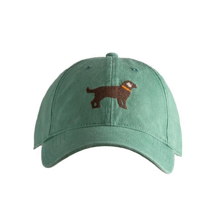 [하딩레인] Adult`s Hats Chocolate Lab on moss green - 풋셀스토어