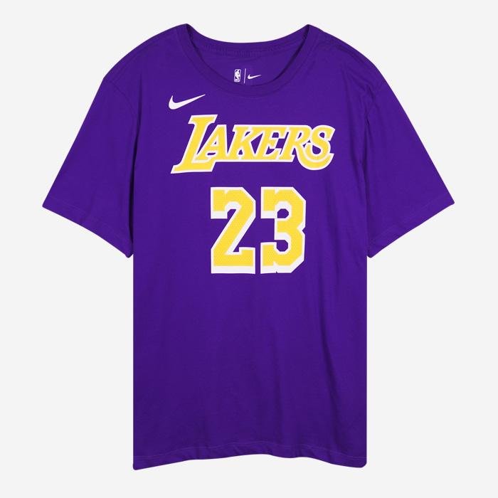 나이키 NBA LA 레이커스 르브론 제임스 반팔티 BQ1540-557 드라이핏 - 풋셀스토어