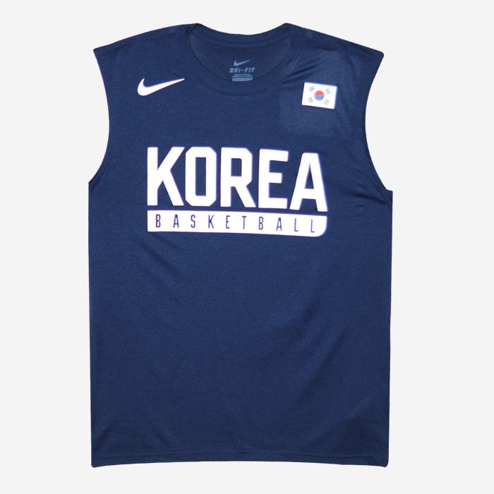 나이키 KOREA 국가대표 드라이핏 나시티 726806-419 티셔츠 - 풋셀스토어