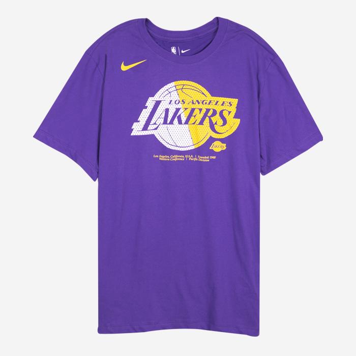 나이키 NBA LA 레이커스 드라이핏 로고 반팔티 AT0421-547 티셔츠 - 풋셀스토어