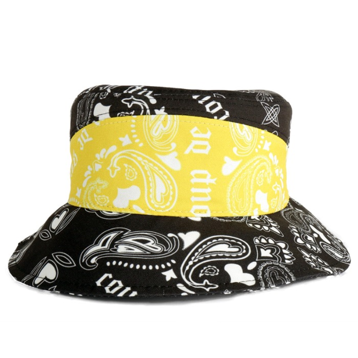 [쿠드그라스] COUP DE GRACE PAISLEY BUCKET HAT YELLOW - 풋셀스토어
