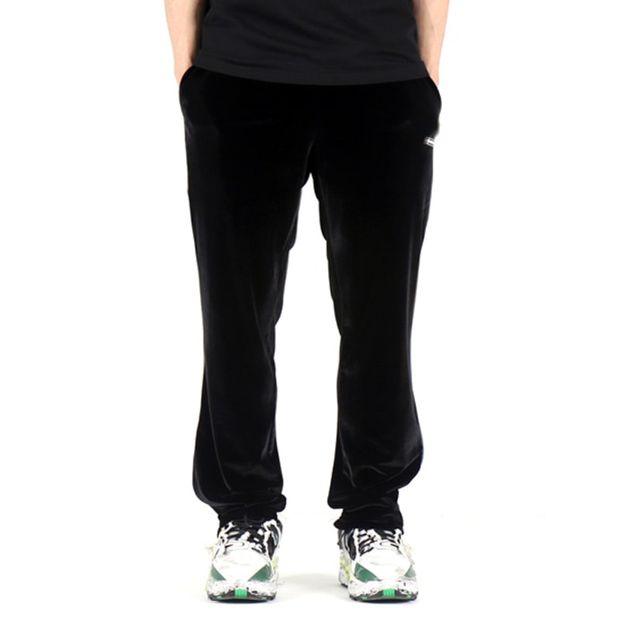 [쿠드그라스] COUP DE GRACE VELOUR REFLECT PIPING SLACKS (BLACK) - 풋셀스토어
