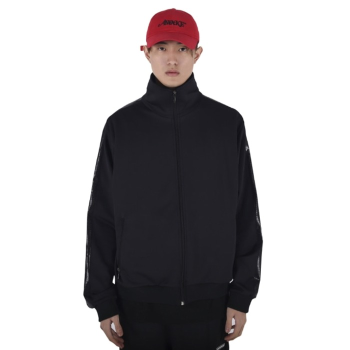 [쿠드그라스] COUP DE GRACE SHINING TRACK JACKET (BLACK/BLACK) - 풋셀스토어
