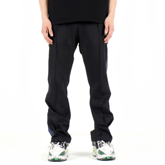 [쿠드그라스] COUP DE GRACE SHINING TRACK PANTS (BLACK/BLUE) - 풋셀스토어